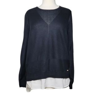 CALVIN KLEIN Sweater Pullover Ribbed Layered